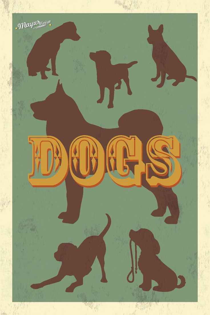 Dog Retro Style Poster