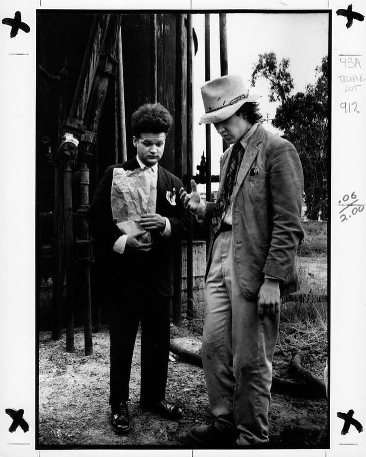 Jack Nance and David Lynch on the set of Eraserhead (1977)