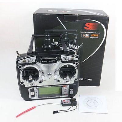 FlySky FS-T6 2.4G 6CH TX RX FS-R6B RC Radio Control Transmitter Receiver System