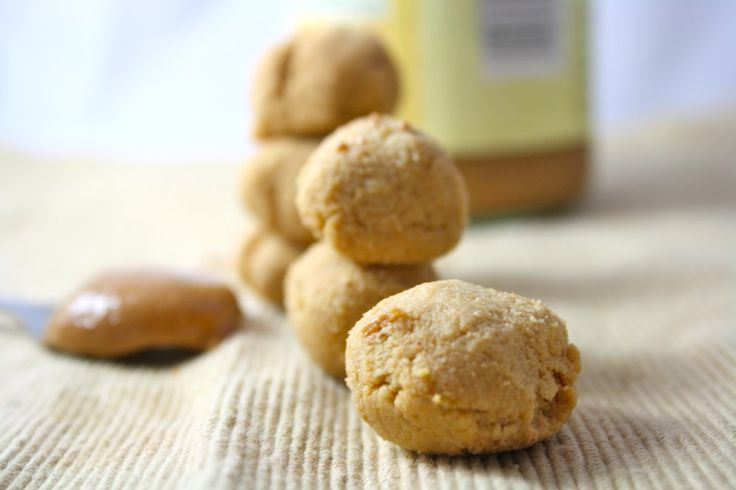 Peanut butter cookie dough you are SUPPOSED to eat! Only 100 calories for the entire recipe! I make this for a snack all the time.
