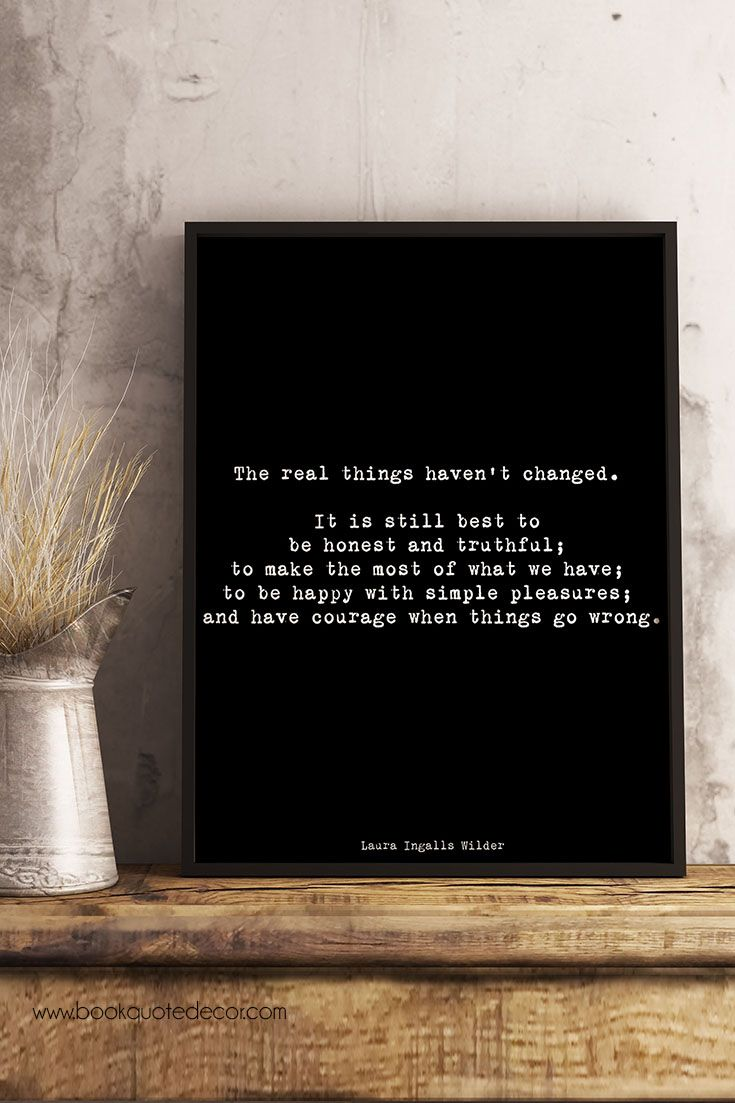 Inspirational minimalist Laura Ingalls Wilder quote print in black & white for your living room or bedroom wall decor. Click through now to see more details!