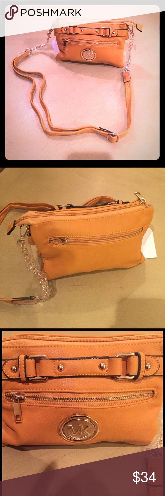 Michael kors Handbag This is brand new replica Handbag and fraction of cost. Cross body yellow with handle has good touch. KORS Michael Kors Bags Crossbody Bags