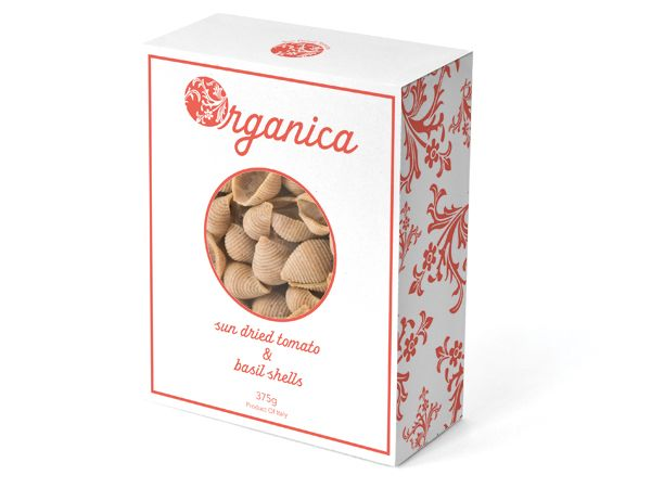 Organica Pasta Packaging by Laura Holman, via Behance