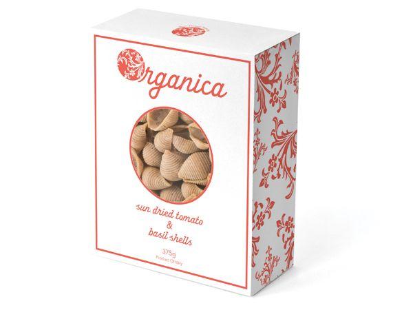 Organica Pasta Packaging by Laura Holman, via Behance