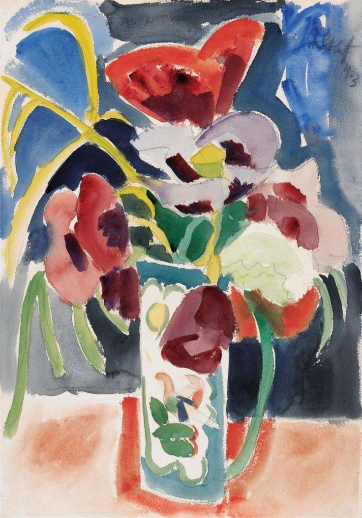 Ernst Ludwig Kirchner (1880 -1938) is de belangrijkste vertegenwoordiger van het Duits expressionisme en wordt door velen gezien als voorman van Die Brücke (de Brug), een kunstenaarscollectief dat van 1905 tot 1913 actief was en later uiteenviel.- 1923