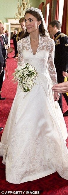 Duchess of Cambridge wearing Alexander McQueen
