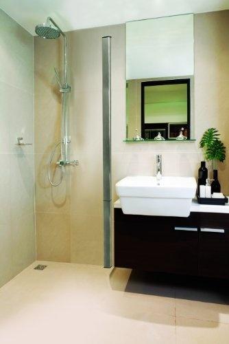 Outasight - Foldaway Wetroom Shower Screen (Chrome) 1900x1200  Price : £259.00 http://www.showeringforall.com/Outasight-Foldaway-Wetroom-Shower-1900x1200/dp/B0093I8EA8