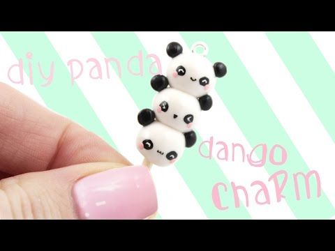 Kawaii Friday Panda Dango Charm polymer clay tutorial