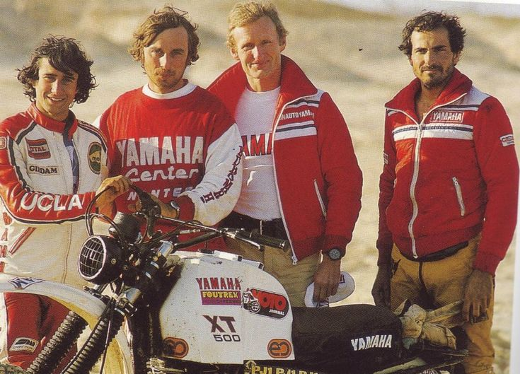 Neveu, Merel, JCO, et Pinneau / Yamaha Sonauto / Paris Dakar 1980
