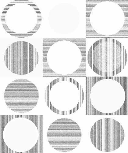 Fräck tapet med geometriskt mönster från kollektionen Kvadrat 17071. Klicka för att se fler inspirerande tapeter för ditt hem!
