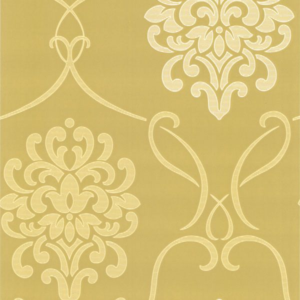 DL30444 Accents Suzette Light Green Modern Damask
