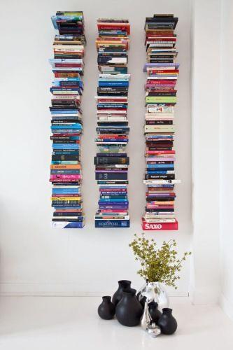 {wall full of books}
