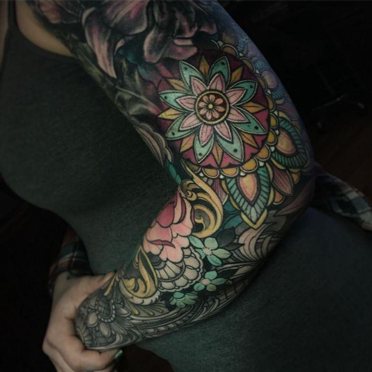 20 Color Sleeve Tattoos: 1000+ Ideas About Mandala Sleeve On Pinterest