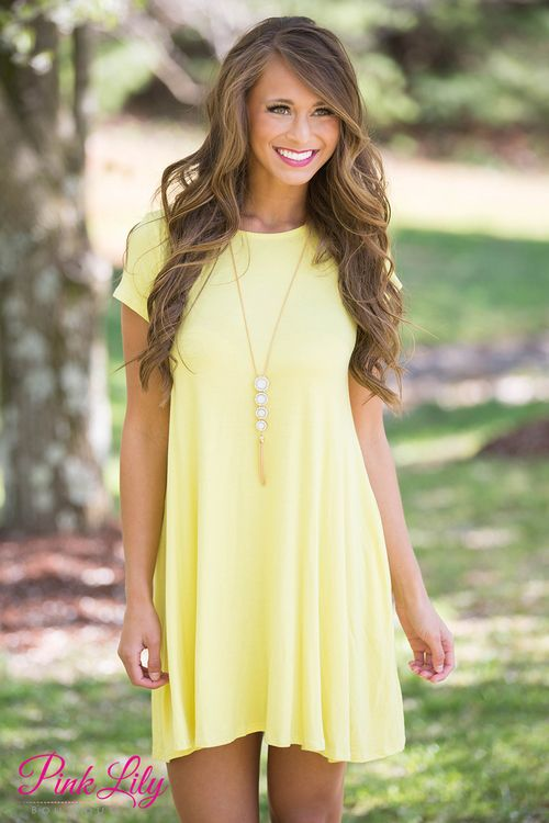 Relax and have a good time in this simple yet versatile dress! It's great for layering, wearing with sandals, or for an everyday look!