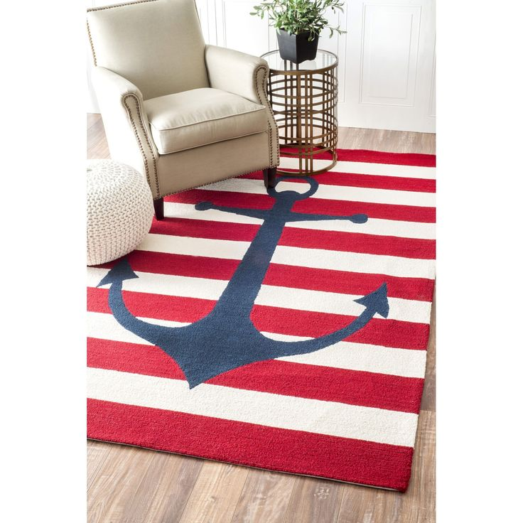 Add a unique appeal to your home with this hand-hooked wool rug. Designed with petit-point stitches to enhance its aesthetic value.