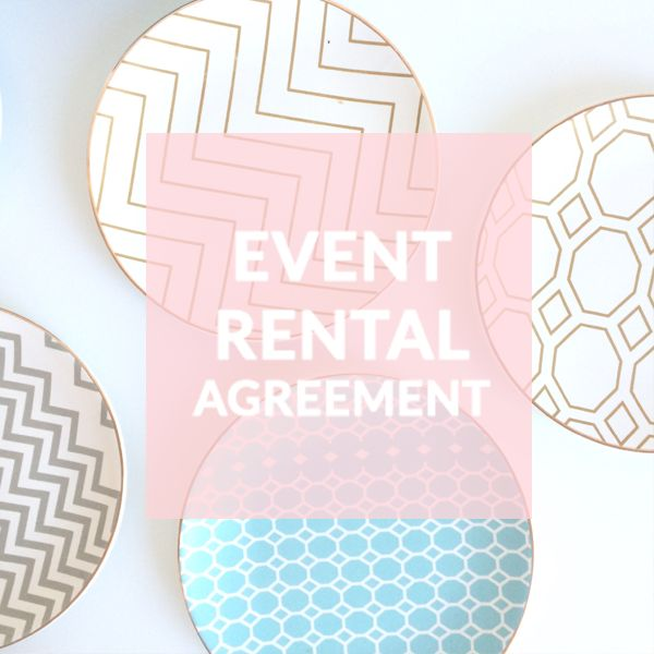 This Event Rental Agreement is for rental companies that rent out items  such as props, furniture, tabletop items, and decorative accessories for  use at events. This reusable template agreement addresses a variety of  topics including:       * Items to be Rented     * Rental Fees     * Damage Deposit     * Fees for Additional Services      * Event Rescheduling      * Damaged or Lost Rental Items     * Release     * Limitation of Liability      * Termination of the Agreement and much more.