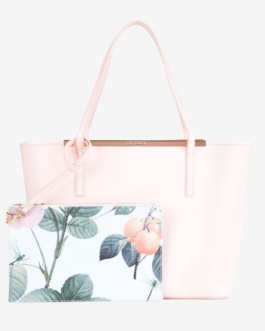 Crosshatch leather shopper - Nude Pink   Bags   Ted Baker UK