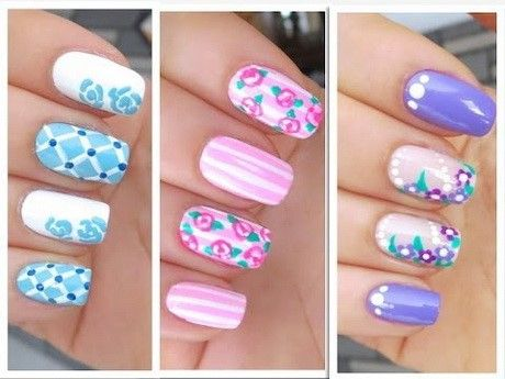 Lots of pretty Spring Nails here.