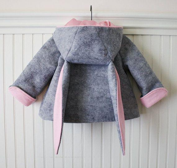 Honey Bunny Coat in Grey por littlegoodall en Etsy, $149.00