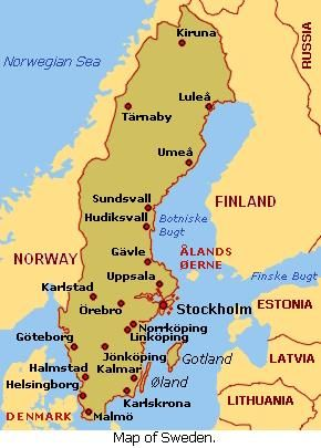 Umea, Sweden is located in the far northeast region of the country. Umeå has its own airport,