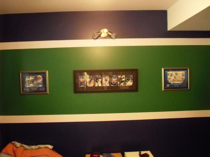 Vancouver Canucks Hockey Themed Bedroom. Love The Way The
