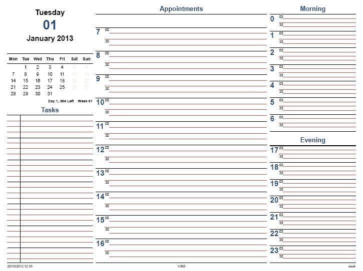 1000 ideas about Daily Calendar Template – Daily Task Calendar Template