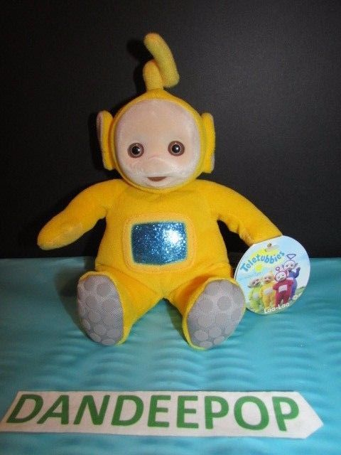 Teletubbies Laa-Laa 1998 Itsy Bitsy Ent 42008 Stuffed Toy With Tags Eden  #Eden #teletubbies #laalaa #stuffedtoy #toy #tv #dandeepop Find me at dandeepop.com