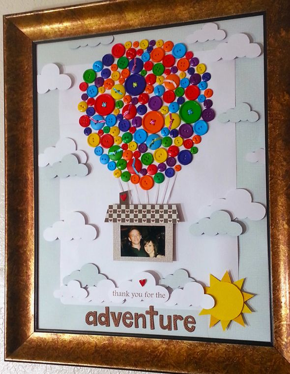 My buttons project! Ginormous scrapbook page for my wall.  So much Love!