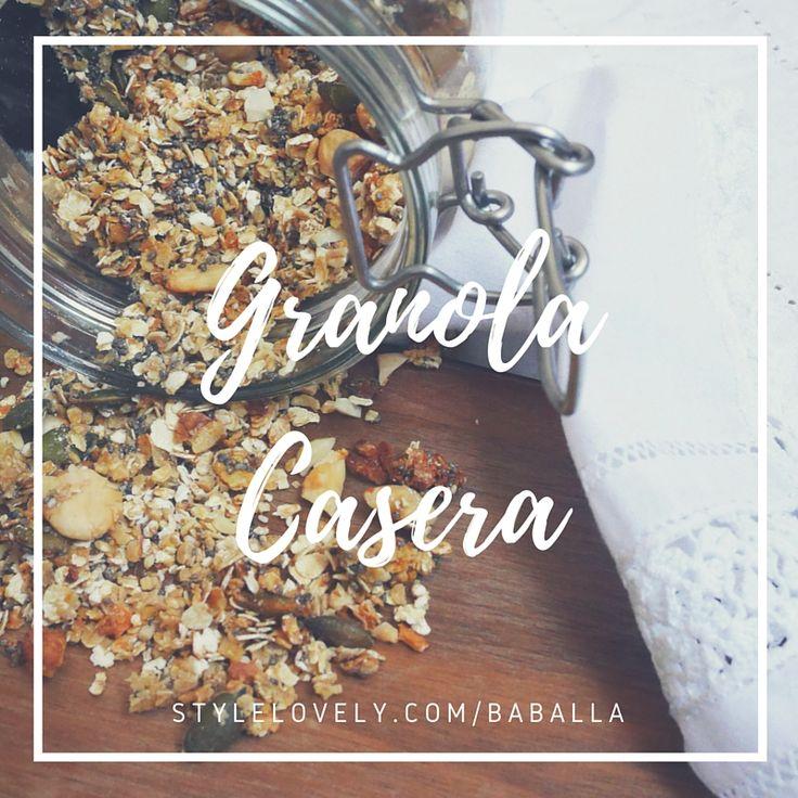 granola casera, receta sencilla
