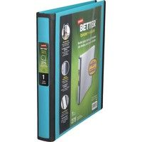 Wish | Staples Better 1-Inch D 3-Ring View Binder, Teal (13466-CC)