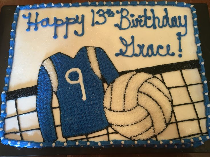 Volleyball Birthday Cake
