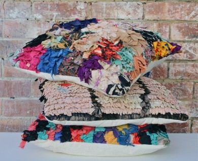 Boucherouite Rag Rug Cushions