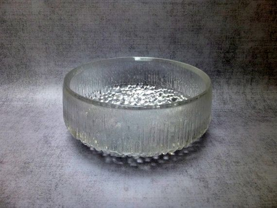"Iittala Glass - Ultima Thule - Serving Bowl 7.5"" Tapio Wirkkala"