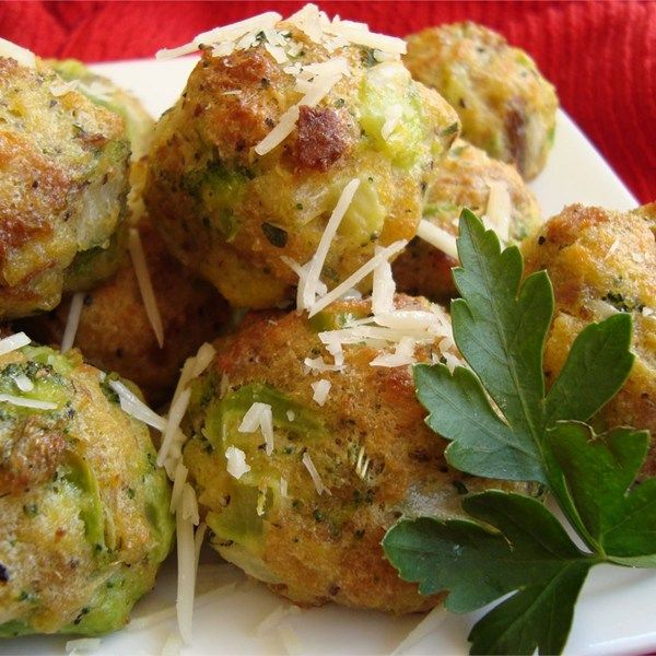 """Parmesan Broccoli Balls   """"Fabulous. Made this as a side dish and we loved it. I did however, increase the Parmesan Cheese to 1 cup and used fresh broccoli instead of frozen."""""""