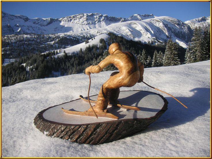 Skifahrer von Pascal Baur