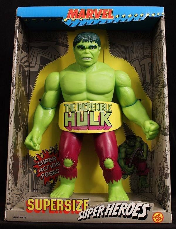 1991 The Incredible Hulk Supersize Superheroes 12 Inch