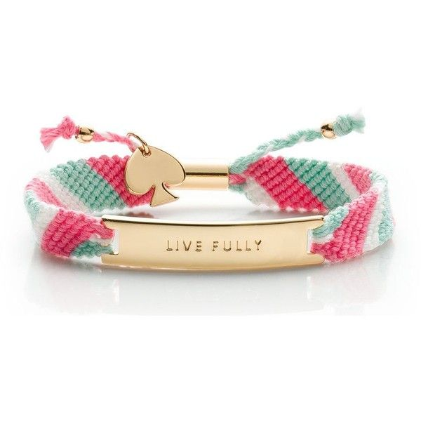 Kate Spade On Purpose Multi Friendship Bracelet (£26) ❤ liked on Polyvore featuring jewelry, bracelets, accessories, braided friendship bracelet, handcrafted jewelry, kate spade, handcrafted jewellery and friendship bracelet