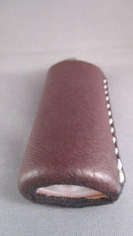 Leather Bic Lighter Case  from quabbinleather.com