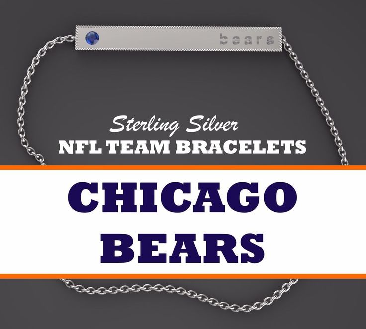 Womens NFL Jewelry Chicago Bears Bar Bracelet White Gold Plated Silver w Blue CZ #BarBracelet #ChicagoBears #arizonacardinals #cardinals #arizona #atlantafalcons #falcons #atlanta #atl #baltimoreravens #ravens #baltimore #buffalobills #bills #buffalo #miamidolphins #dolphins #miami #minnesotavikings #vikings #minnesota #newenglandpatriots #patriots #newengland #neworleanssaints #saints #neworleans #carolinapanthers #panthers #carolina #chicagobears #bears #dabears #chicago