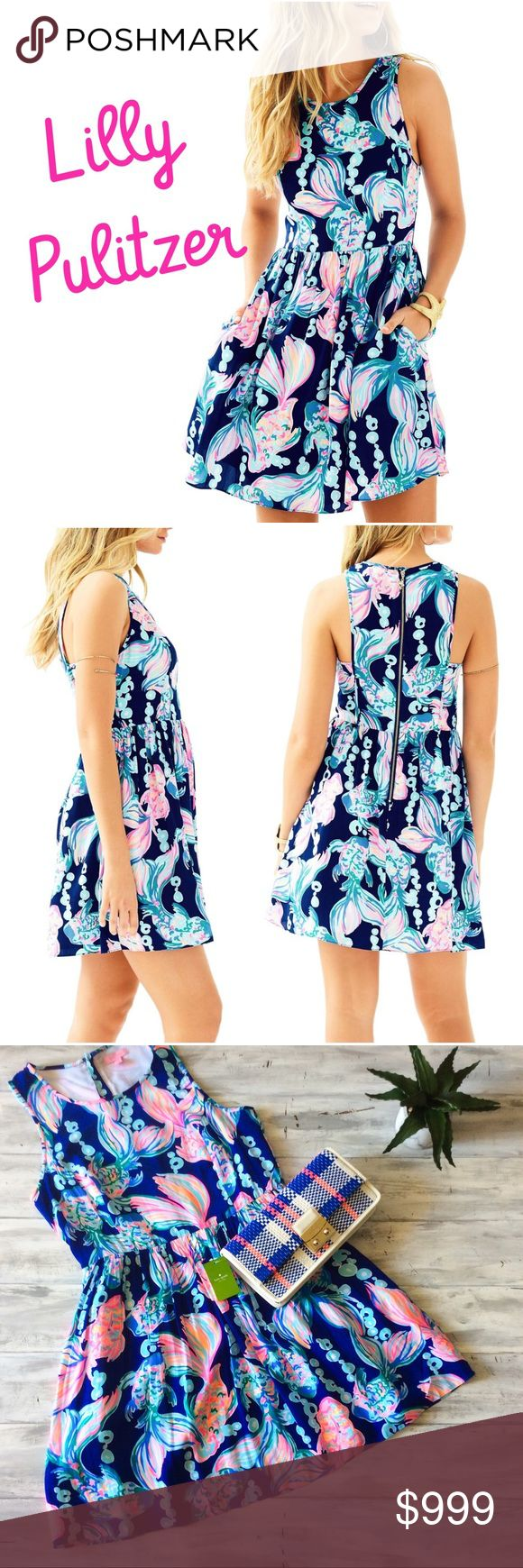 Coming Soon 🐠 Lilly Pulitzer Going Coastal Dress Coming soon brand new with tags  Lilly Pulitzer Kassia Dress in true blue going coastal. The holy grail of Lilly dresses. Sold out every place in every size!  Price will be lowered when the item actual goes on sale. This is a preview listing, tag yourself to be notified when it's available. The pictures 2-4 are the actual dress. Lilly Pulitzer Dresses