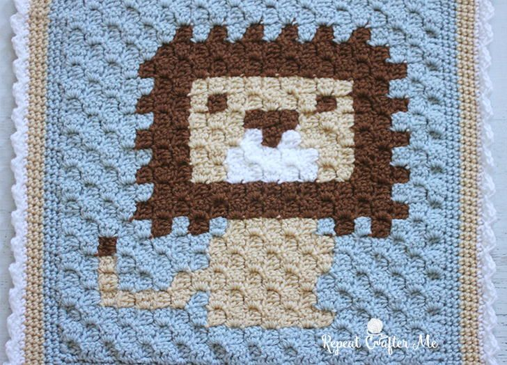 Littlest Lion Lovey Crochet Blanket   AllFreeCrochetAfghanPatterns.com