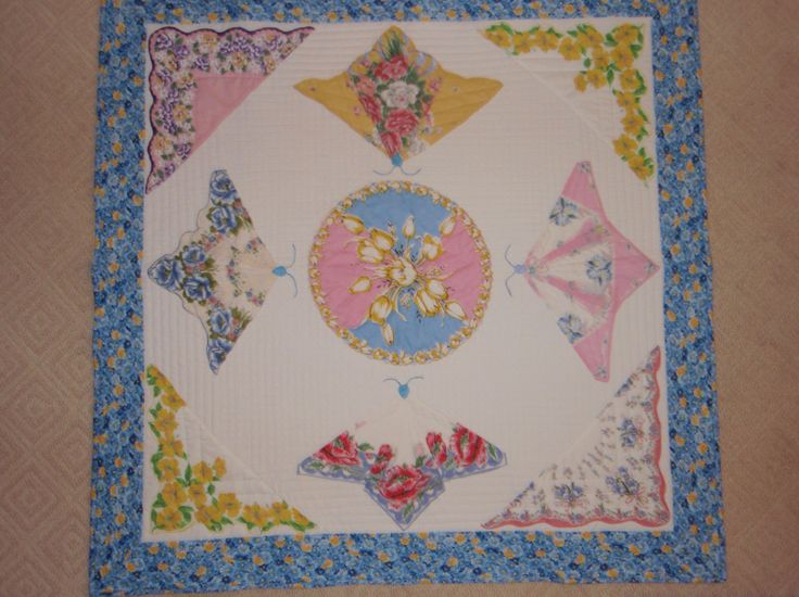 Vintage butterfly hankie quilt | quilts & more | Pinterest