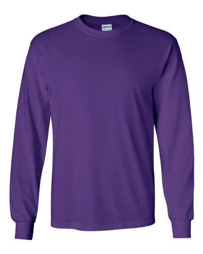 Gildan Ultra Cotton 6 Oz. Long-Sleeve T-Shirt (G240)- Pur...