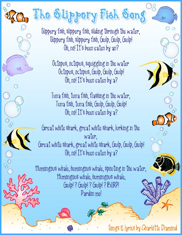 Slippery fish annemarie loves this song my bambinos for Funny fishing songs