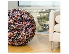 Dreamweavers Executive Silk Tie Pliates Balls eclectic ottomans and cubes