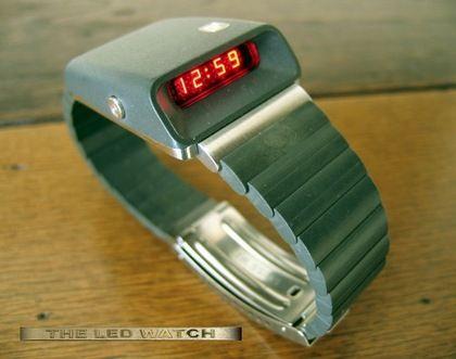 Girard Perregaux Casquette 1970s digital LED watch.