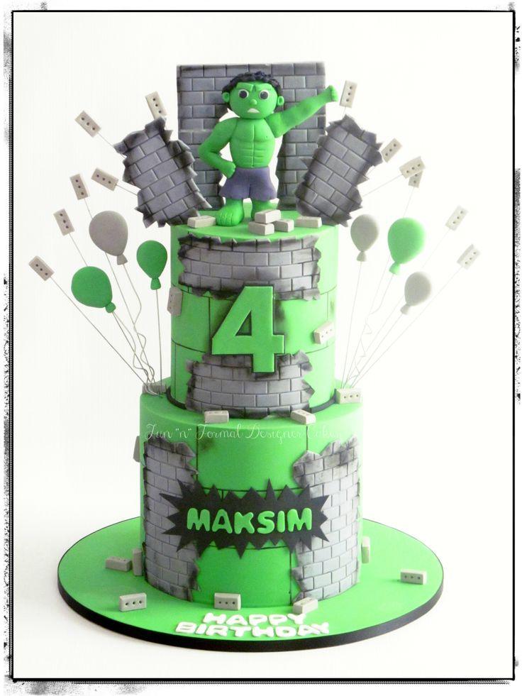 25 Best Ideas About Hulk Birthday Cakes On Pinterest
