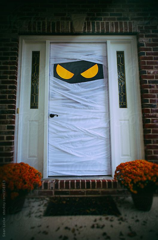 Stock Photos Spooky Halloween Door Dressed As Mummy By Sean Locke Best Halloween Decoration Mummy Door & 28 best Halloween images on Pinterest   Autumn leaves Blog and Candles