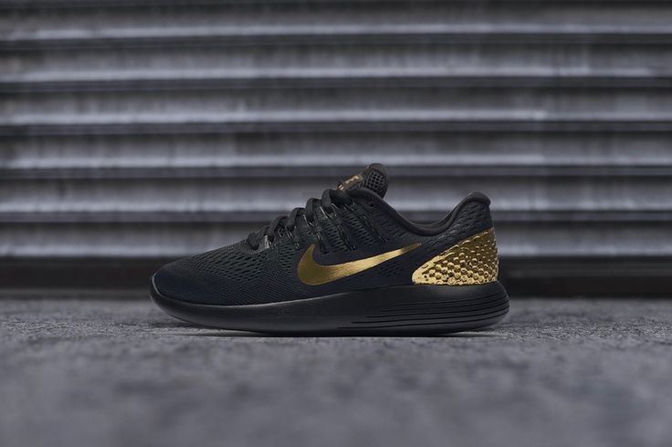 Women's Nike LunarGlide 8 'Black and Gold'