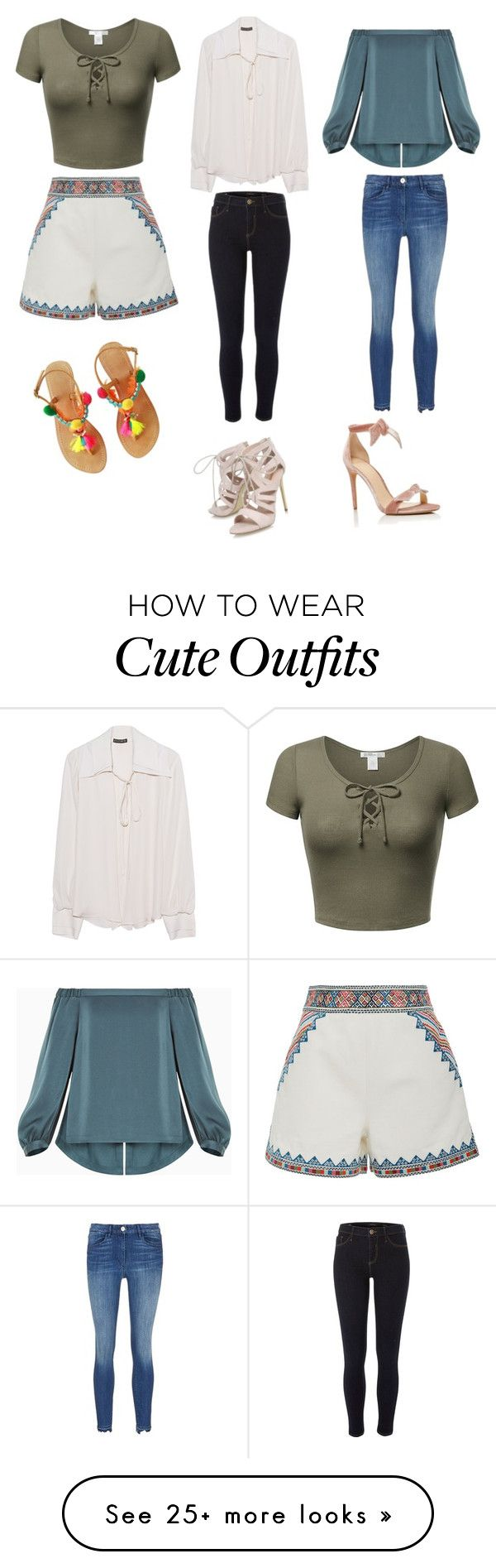 """Cute Casual Outfits "" by lsantana13 on Polyvore featuring Plein Sud, BCBGMAXAZRIA, River Island, Talitha, Alexandre Birman and Carvela"
